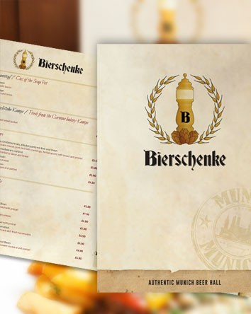 Bierschenke Restaurant Menu Design