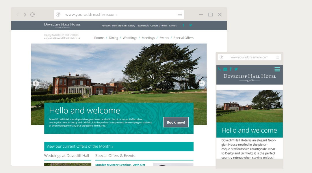 Dovecliff Hall Hotel Website