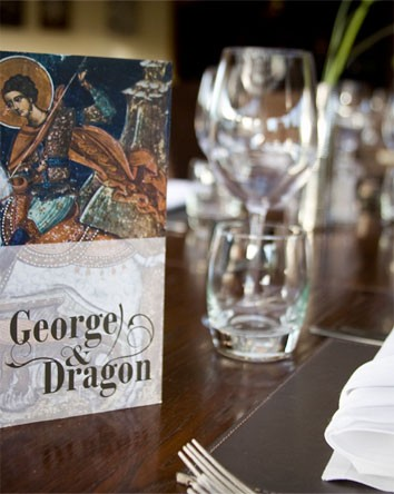 George and Dragon Restaurant Menu Design