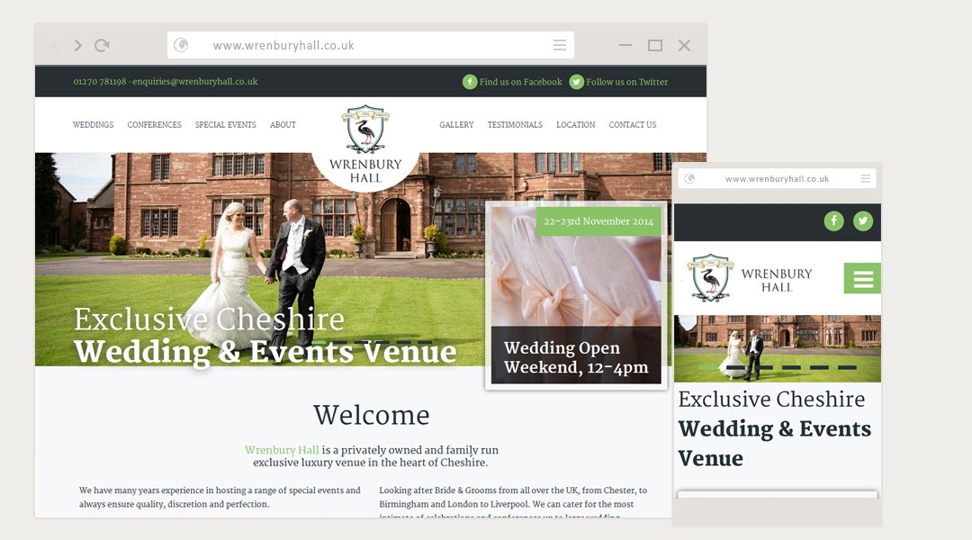 Wrenbury Hall Website