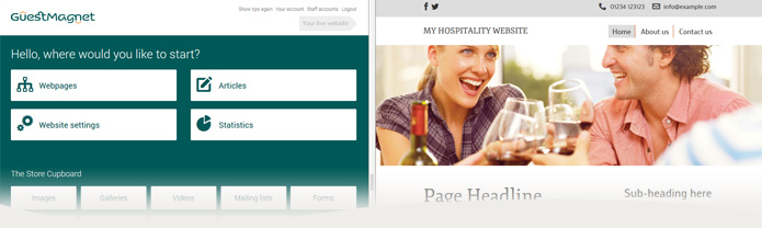 Get a modern mobile-friendly website for your hotel or restaurant